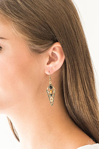 Paparazzi Jewelry Earrings Terra Territory - Brass