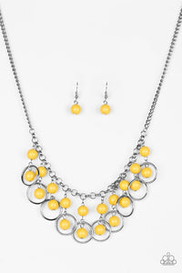 Paparazzi Jewelry Necklace Really Rococo - Yellow
