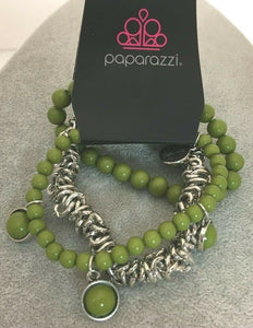 Paparazzi Jewelry Bracelet Good Vibes Only Green