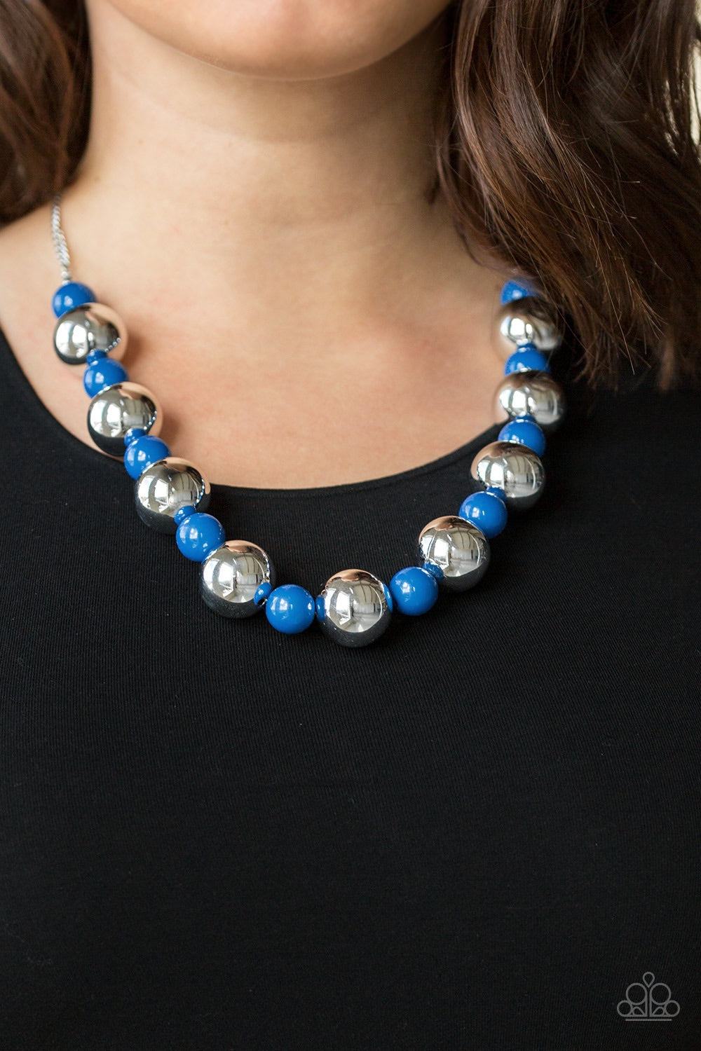 Paparazzi Jewelry Necklace Top Pop - Blue