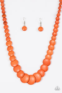 Paparazzi Jewelry Necklace Desert Flats - Orange