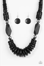 Load image into Gallery viewer, Paparazzi Jewelry Wooden Boldly Belize - Black