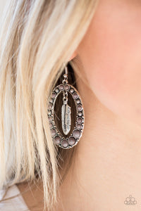 Paparazzi Jewelry Earrings Put Up A FLIGHT - Silver