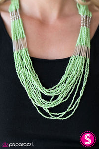 Paparazzi Jewelry Necklace Let It BEAD - Green
