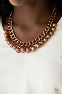 Paparazzi Jewelry Necklace Get Off My Runway - Copper