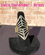 Load image into Gallery viewer, Paparazzi Jewelry Ring Deco Defender Brass