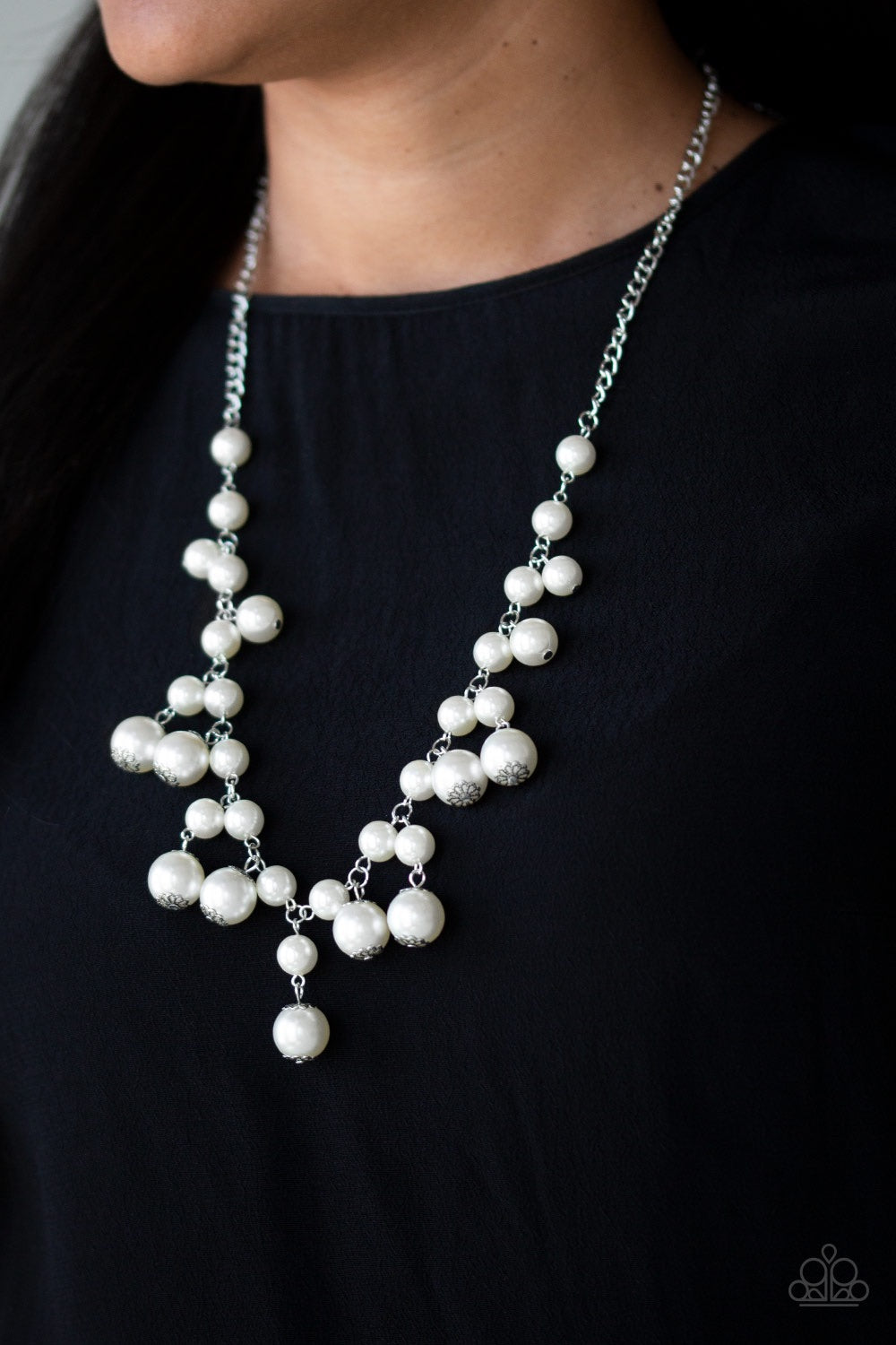 Paparazzi Jewelry Necklace Soon To Be Mrs. - White