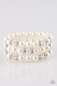 Paparazzi Jewelry Bracelet Undeniably Dapper - White