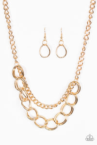 Paparazzi Jewelry Necklace Top Boss - Gold