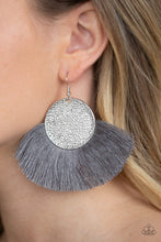 Load image into Gallery viewer, Paparazzi Jewelry Earrings Foxtrot Fringe - Silver