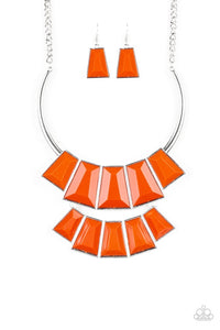 Paparazzi Jewelry Necklace Lions, TIGRESS, and Bears - Orange