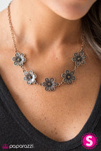 Load image into Gallery viewer, Paparazzi Jewelry Necklace The Earth Laughs In Flowers - Copper