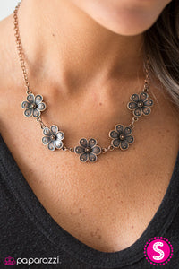 Paparazzi Jewelry Necklace The Earth Laughs In Flowers - Copper