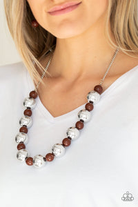 Paparazzi Jewelry Necklace Top Pop - Brown