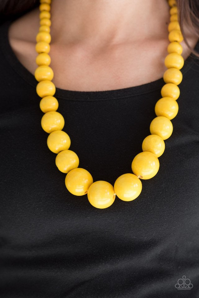 Paparazzi Jewelry Wooden Effortlessly Everglades - Yellow