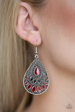 Load image into Gallery viewer, Paparazzi Jewelry Earrings Westside Wildside - Red