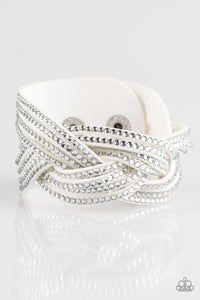 Paparazzi Jewelry Bracelet Big City Shimmer - White