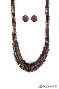 Paparazzi Jewelry Wooden Shore Thing Brown