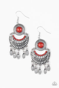 Paparazzi Jewelry Earrings Mantra to Mantra - Red