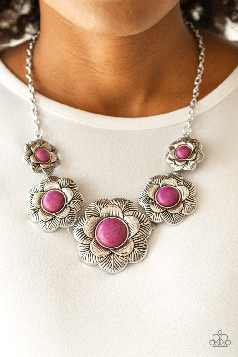 Paparazzi Jewelry Necklace Santa Fe Hills - Purple