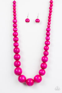 Paparazzi Jewelry Wooden Effortlessly Everglades - Pink