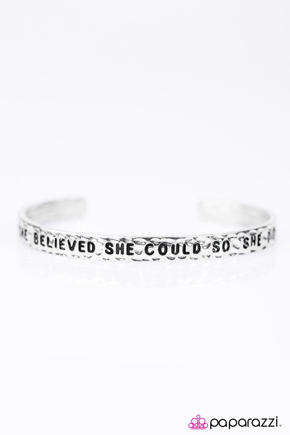 Paparazzi Jewelry Inspirational She Believed She Could - Silver