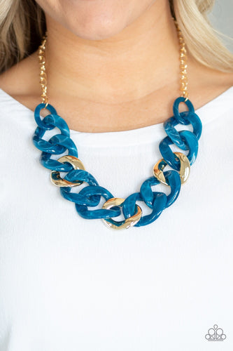 Paparazzi Jewelry Necklace I Have A HAUTE Date - Blue