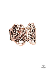 Paparazzi Jewelry Ring All Aflutter - Copper
