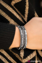 Load image into Gallery viewer, Paparazzi Jewelry Bracelet Front Row Fabulous Grey