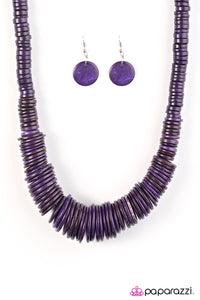 Paparazzi Jewelry Wooden SHORE Thing - Purple
