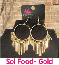 Load image into Gallery viewer, Paparazzi Jewelry Earrings SOL Food Gold