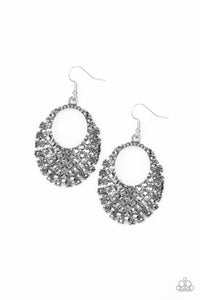 Paparazzi Jewelry Earrings Fierce Flash - Silver