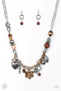 Paparazzi Jewelry Inspirational Charmed, I Am Sure - Brown