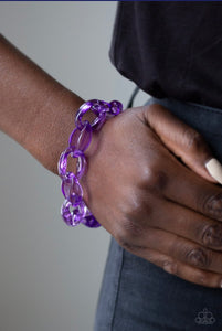 Paparazzi Jewelry Bracelet Ice Ice Baby Purple