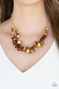 Paparazzi Jewelry Necklace Full Out Fringe - Brown