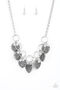 Paparazzi Jewelry Necklace Very Valentine - Silver