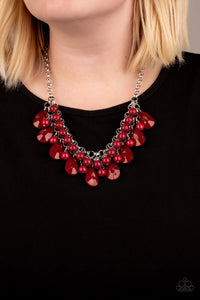Paparazzi Jewelry Necklace Endless Effervescence - Red