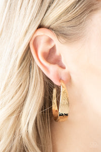 Paparazzi Jewelry Earrings HOOP and Holler - Gold