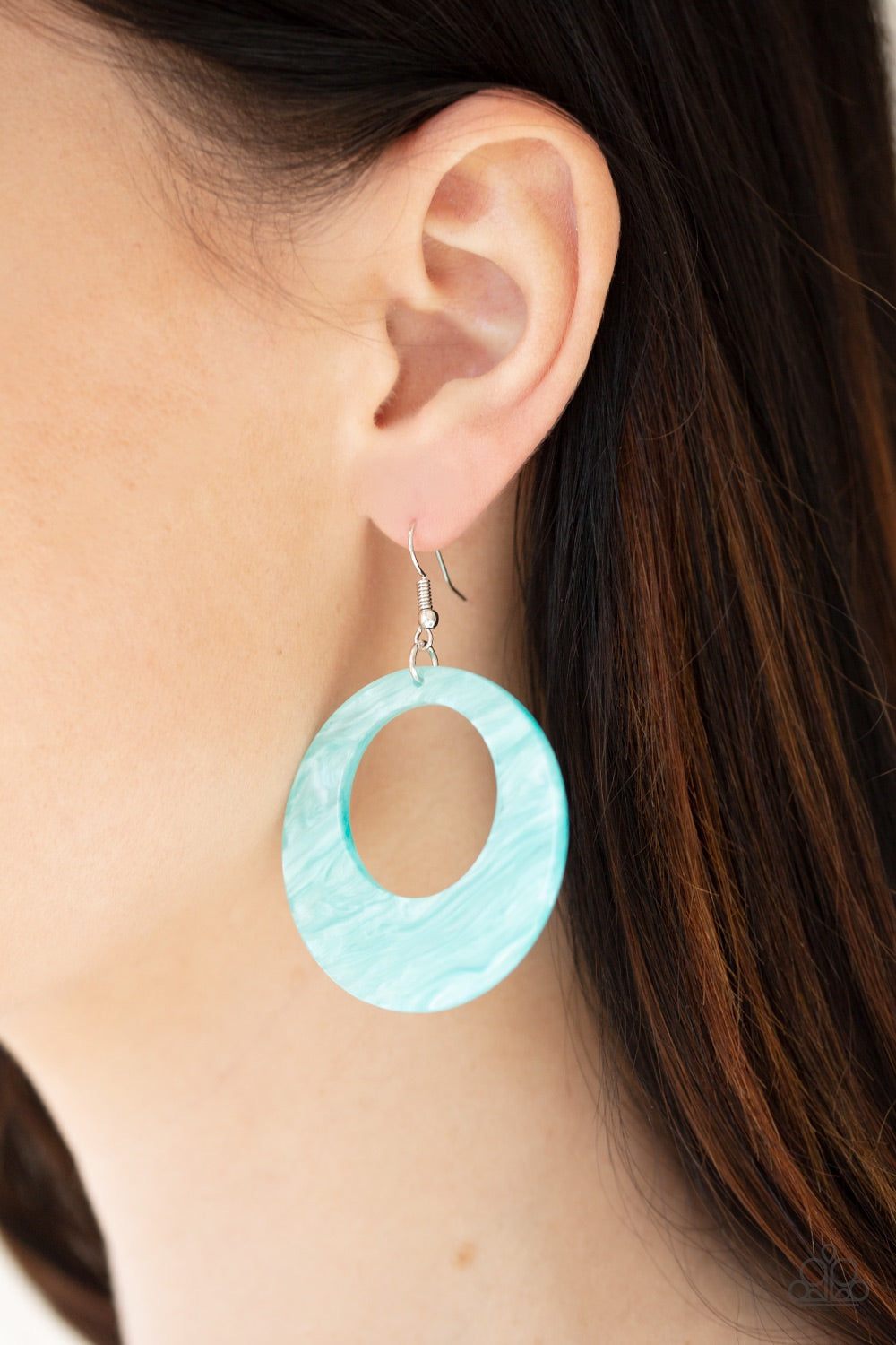 Paparazzi Jewelry Earrings Tropical Trailblazer - Blue