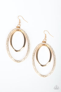 Paparazzi Jewelry Earrings Wrapped In Wealth - Gold