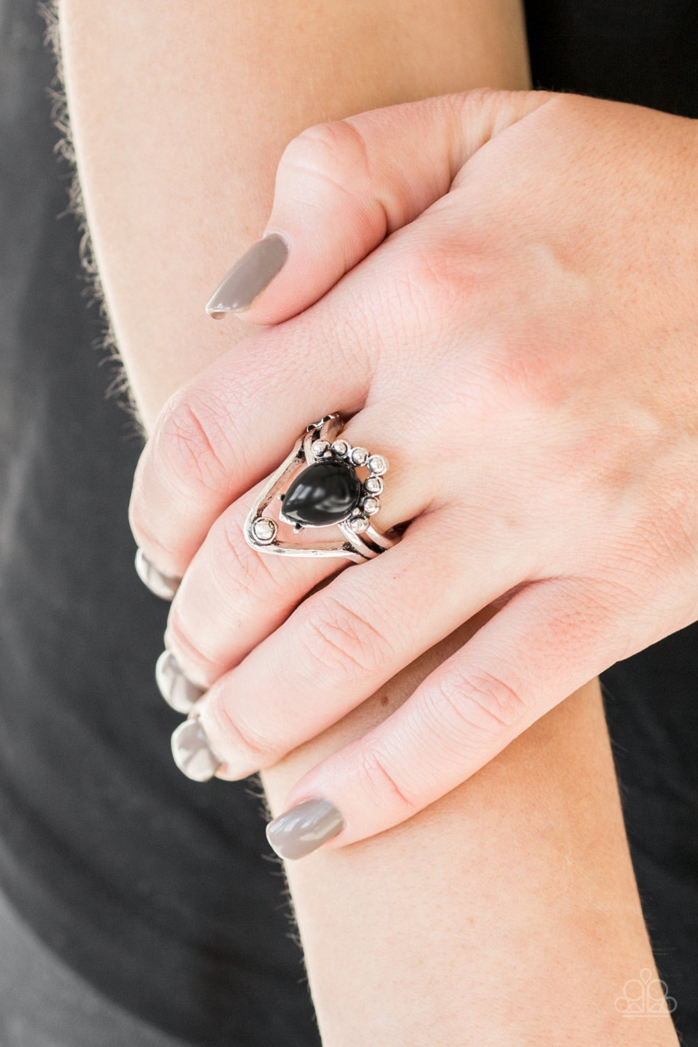 Paparazzi Jewelry Ring The Bold and The BEAD-iful - Black