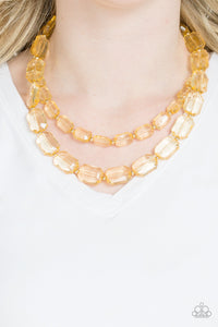 Paparazzi Jewelry Necklace Ice Bank - Gold