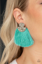 Load image into Gallery viewer, Paparazzi Jewelry Earrings Make Some PLUME - Blue