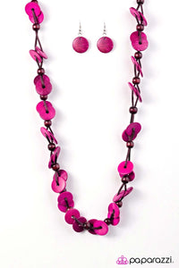Paparazzi Jewelry Wooden Caribbean Carnival - Pink