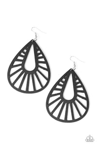Paparazzi Jewelry Earrings Coachella Chill - Black