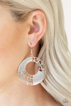 Load image into Gallery viewer, Paparazzi Jewelry Earrings Shattered Shimmer - Silver