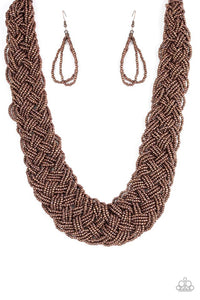 Paparazzi Jewelry Necklace  Mesmerizingly Mesopotamia - Copper