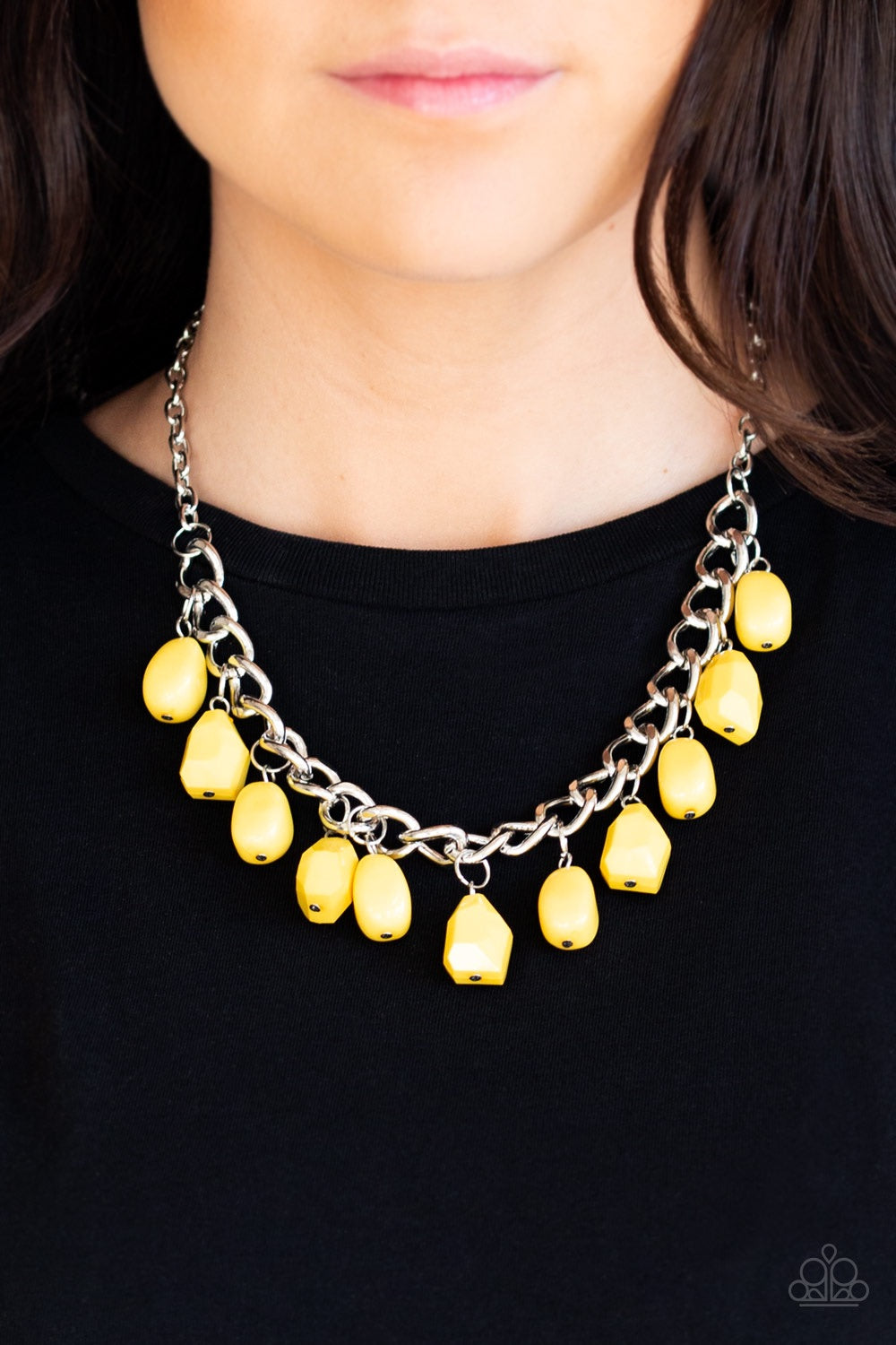 Paparazzi Jewelry Necklace Take The COLOR Wheel! - Yellow