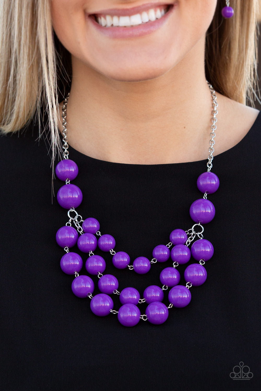 Paparazzi Jewelry Necklace Miss Pop-YOU-larity - Purple