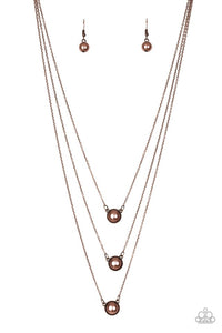 Paparazzi Jewelry Necklace A Love For Luster - Copper